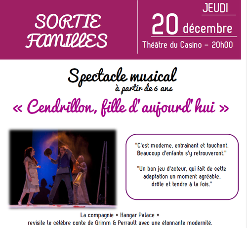 SORTIE FAMILLE : Spectacle